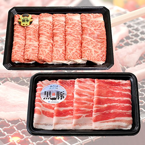 JA鹿児島県経済連 5等級 K-107 鹿児島黒牛・黒豚しゃぶしゃぶセット
