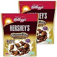 【Amazon.co.jp限定】 ケロッグ ハーシーチョコビッツとろけるチョコレート袋 340gx2個セット