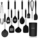 CHASSTOO Kitchen Utensil Set, 12 Pcs Silicone Cooking Utensils, Heat Resistant Silicone Utensils with Easy Grip Handle, Essen