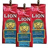 ライオンコーヒー バニラマカダミア 198g×3個(粉)