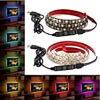 YULPING 1M防水USB SMD5050 120 LEDストリップライトバーTVの背景照明ランプ5V LEDライトストリップ (Color : White)