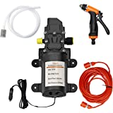 Gioyonil Electric Pressure Washer Pump, 12V 100W Portable High Pressure Power Intelligent Mini Car Water Pump Kit for Auto RV