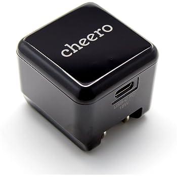 cheero USB-C PD Charger 18W (パワーデリバリー対応 充電器 小型アダプタ) 対応機種へ超高速充電 AUTO-IC搭載 折り畳み式プラグ 1ポート CHE-324