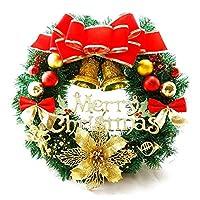 多色のつるリングを掛けるクリスマスの装飾の花輪30cmのクリスマスの花輪のドア