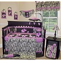 SISI Baby Girl Boutique - Animal Planet Purple - 15 PCS Crib Bedding Set by Sisi