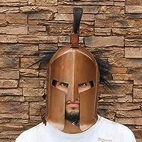 Medieval歯車ブランドGreek Spartan King 300 CrestedヘルメットW /銅仕上げ&ライナーReenactment LARP
