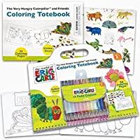 Eric Carle Colouring Book Super Set -- Giant Eric Carle Colouring Book, Eric Carle Stickers, and 12 Toddler Crayons