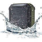 Omaker M4 Bluetoothスピーカー 防水仕様 マイク搭載通話可能 12時間連続再生 NFC対応 丈夫なポータブルスピーカー オリーブグリーン