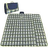 600dオックスフォード布ピクニック毛布屋外折りたたみビーチマットピクニックマット防水サンドキャンプキャンプハンドルピクニック敷物マット195 * 200センチ
