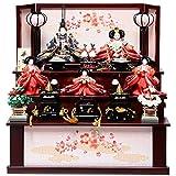 【雛人形収納飾】【三段飾】芥子親王栁官女:松鶴雛:華芳作【雛人形】