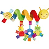 NUOLUX Baby Crib Toy Activity Hanging Rattles Spiral Stroller Car Seat Toy with Ringing Bell