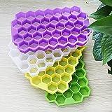 Bulary ビュラリー 製氷皿 4色セット アイストレー ハニカム形 シリコン製 製菓道具 お菓子作り フタ付き 148個取り