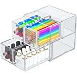 Acrylic Drawer Organizer with Four Drawers, AITEE Clear Desk Storage and Organizer,Makeup Clear Drawers Container, Great for