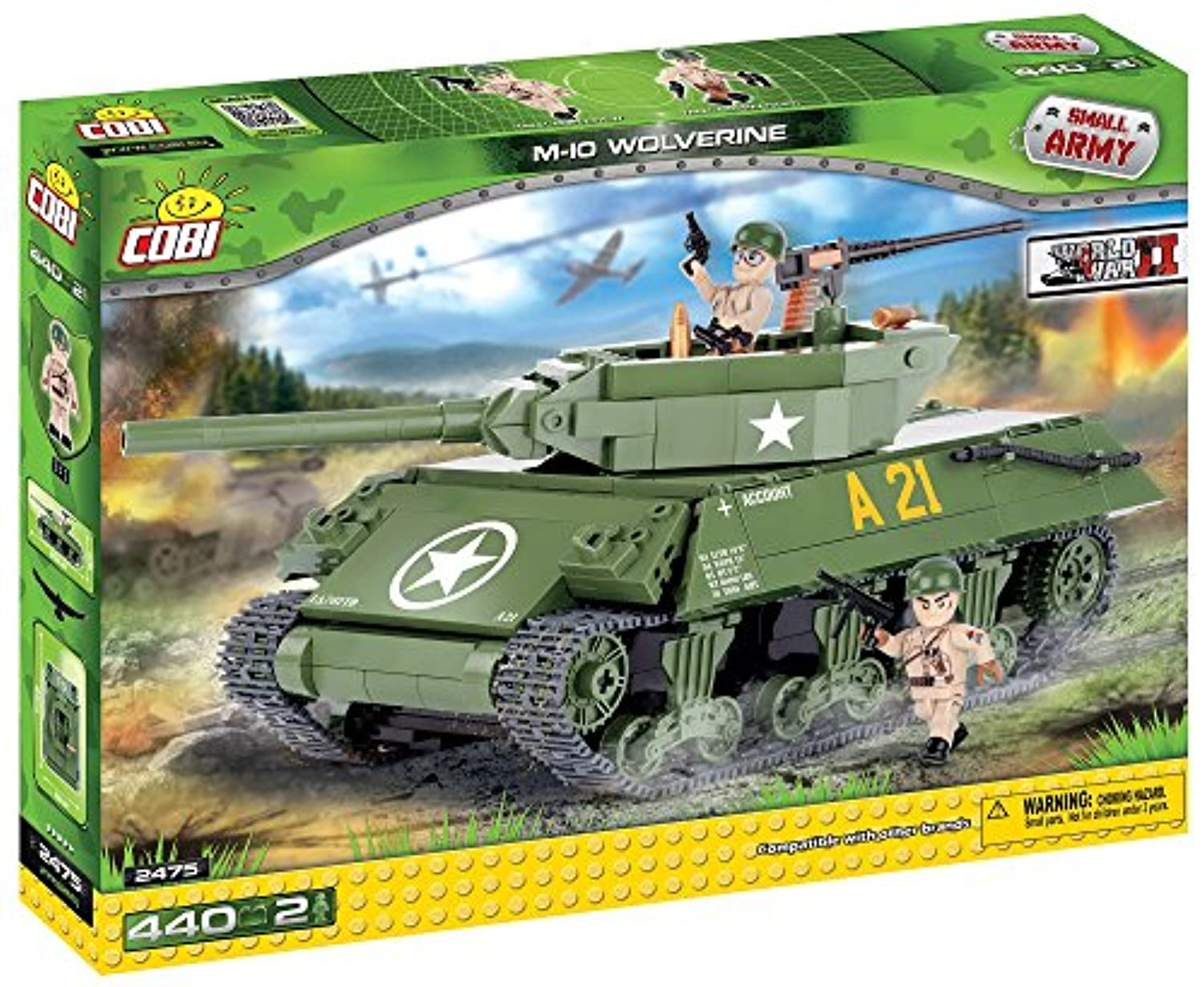 Cobi Small Army ミリタリーブロック WWII #2475 アメリカ軍 M10 ウルヴァリン 駆逐戦車 M10 Wolverine【COBI 日本正規総代理店】
