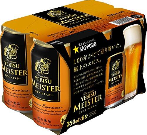 最安値|エビスビール マイスター 缶350ml×6の価格比較