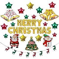 meroSTAR クリスマス バルーン 風船 飾り ツリー ベル サンタクロース 雪だるま 飾り付け 販促 パーティー