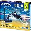 TDK �^��p�u���[���C�f�B�X�N BD-R 25GB 1-4�{�� �S�[���h�f�B�X�N 5���p�b�N 5mm�X�����P�[�X BRV25B5A