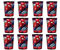 Marvels Spiderman Reusable Cups (12x) Birthday Party Supplies Plastic Favours by Marvels