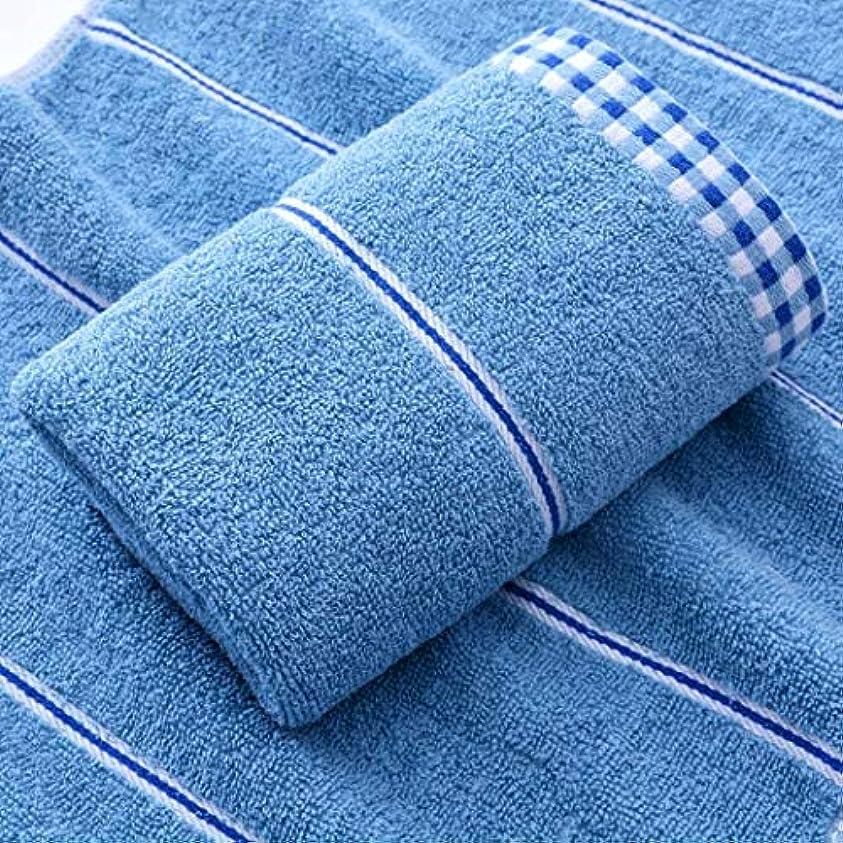 協力的下に向けますきゅうりファッション高級スーパーソフトコットンタオルと速乾性タオル,Blue,33*73cm