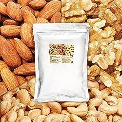 3種 プレミアム ミックスナッツ 1kg 2月産地直輸入 無塩 無添加 食物油不使用 (アーモンド40% くるみ40% カシューナッツ20%)