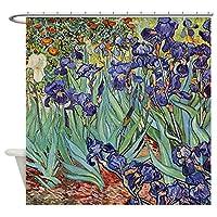 CafePress–Van Gogh Purple Irisカラフルな花柄ペイントShow–装飾ファブリックシャワーカーテン