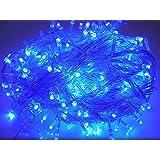 GOODGOODS LED イルミネーションライト パーティー用 電飾 装飾 500球 全長30m 連結可 防雨 防水 青 LD33 ブルー