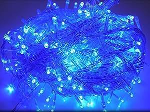 GOODGOODS LED イルミネーション クリスマスライト LED電飾 500球 全長30m 連結可 防雨 防水 青 LD33 ブルー