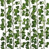 フェイクグリーン 観葉植物 壁掛け アイビー 藤 インテリア 人工観葉植物 グリーン 植物 吊り 12本入り