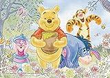 108ピース ジグソーパズル Winnie the Pooh(くまのプーさん)-sweet flower-【パズルデコレーション】(18.2x25.7cm)