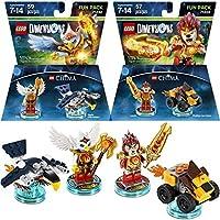 LEGO ( Set of 2)寸法Legends of Chimaパック、Laval the Lion & Eris Eagle Legoをゲームおもちゃ