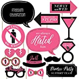 Divorce Party - Party Photo Booth Props Kit - 20 Count