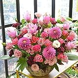 [エルフルール]【立て札可】フラワーギフト カラーが選べる 店長おまかせお祝い花 移転祝い 開業祝い 開店祝い 開院祝い (ピンク系)