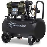 静音 ストレスフリー コンプレッサー 100V 36Lタンク アルミタンク 軽量 ブラシレス オイルレス 最大圧力1.2…