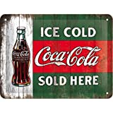 Coca Cola Ice Cold Sold Here    メタルサインプレート   (na 2015)