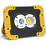 Zmoon LED 投光器 充電式 作業灯「PSE認証済み」30W 2500LM 3つ点灯モード IP65防水 LEDライト モバイルバッテリー機能付き 折り畳み式 夜間作業 アウトドア 倉庫/車の修理/キャンプなどの照明対策