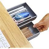 Desk Pencil Drawer Organizer, Large Capacity Pop-Up Student Storage Hidden Desktop Drawer Tray, Great for Office School Home