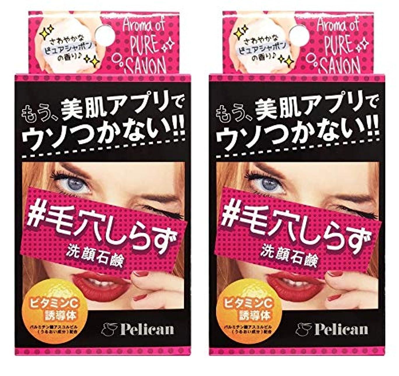 学ぶオープニングムスタチオ【2個セット】ペリカン石鹸 毛穴しらず洗顔石鹸 75g 【2個セット】