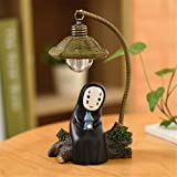 Kimkoala Spirited Away Figures, Cute Studio Ghibli Miyazaki No Face Man with Night Lamp Light Action Figure Toys for Children