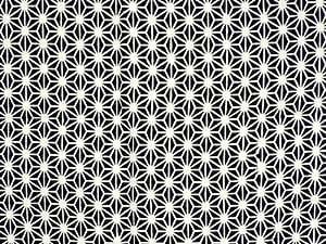 【 戸田屋商店 梨園染 】 注染 手ぬぐい 限定色 「 麻の葉 黒 」 ◎