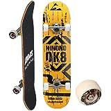 スケートボード 31インチ カナディアンメープルデッキ コンプリートセット 【ABEC9ベアリング採用】