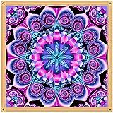 Diamond Painting Kit Full Drill, DIY Cross Stitch Crystal Mosaic Picture Artwork Home Decor Flower 30X30cm