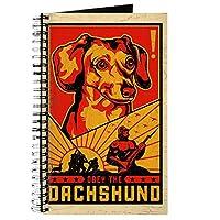 CafePress–Obey the Dachshund 。独裁者–スパイラルバインドジャーナルノートブック、個人日記、裏地付き