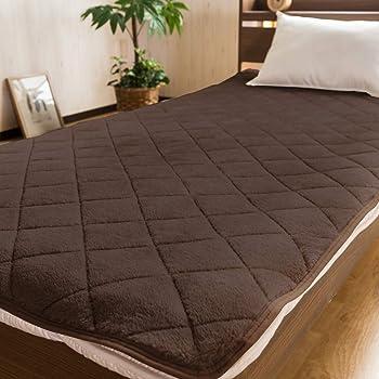 【ふわとろの誘惑 極柔フランネル温か敷きパッド(シングルサイズ)】 高密度ボリュームたっぷりベッドパッド しっとりなめらか上質の肌触り ダイヤキルトで長持ち (ダークブラウン色)
