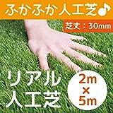 まるで本物のような質感 ふかふかで気持ちがいい人工芝 芝丈30mm 2m×5m リアル人工芝 DAIM マット ロール式 芝生