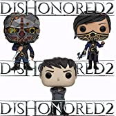 Dishonored 2 Outsider、エミリー、Corvo Pop 。Vinyl Figures Set of 3