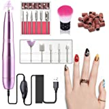 USB Electric Nail Drill Set, Portable Manicure Pedicure Drill Kit With 11 Grinder Bits For Gel Nails, Nail Salon and DIY Mani