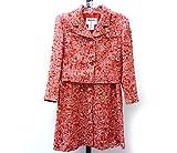 CHANEL シャネル セットアップ ジャケット スカート スーツ ツイード レッド×ホワイト 表記サイズ40【中古】[iz]
