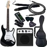 SELDER セルダー エレキギター ストラトキャスタータイプ サクラ楽器オリジナル ST-16/BK 初心者入門ベーシ…