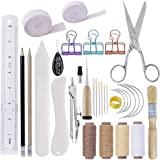 MIUSIE 32 Pieces Hand Bookbinding Tools,Practical Bookbinding Kit for Beginners,Complete Bookbinding Tool Kit with Bookbindin