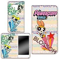 パワーパフガールズ Disney Mobile on SoftBank DM015K ケース 手帳型 両面プリント手帳 デザインC-A (ppg-011) カード収納 スタンド機能 WN-LC276335-S